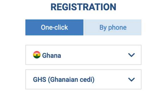 1xBet Ghana login one-click