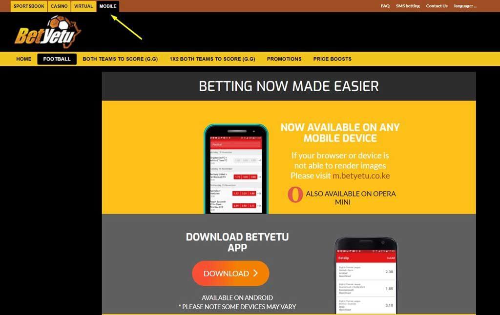 Betyetu App for iOS