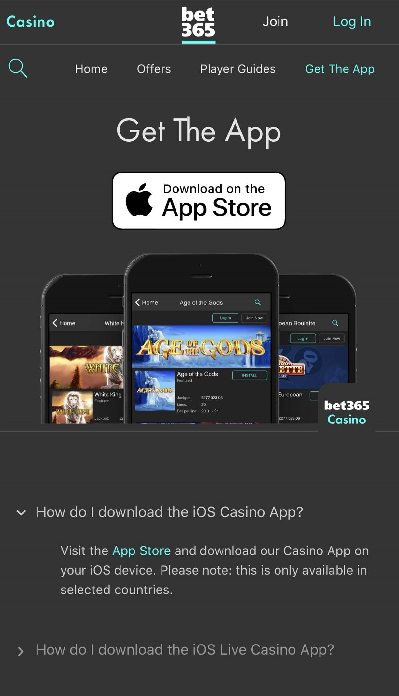 Bet365 App for iOS