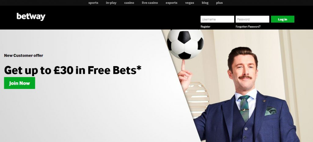 how to get free bet on betway ghana