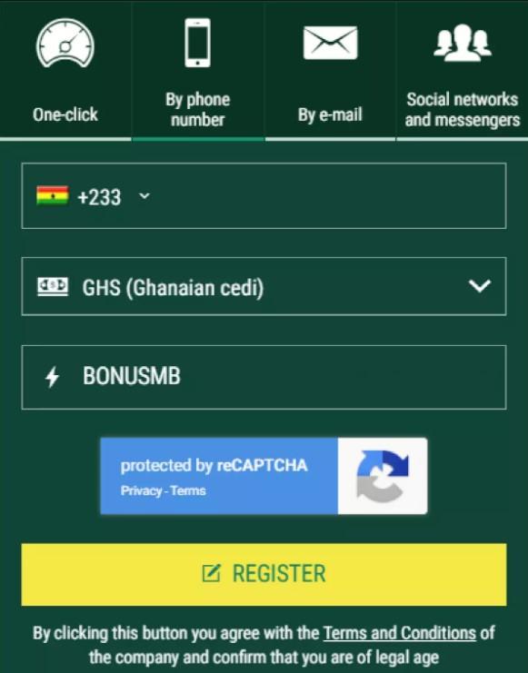 Register at Soccabet app