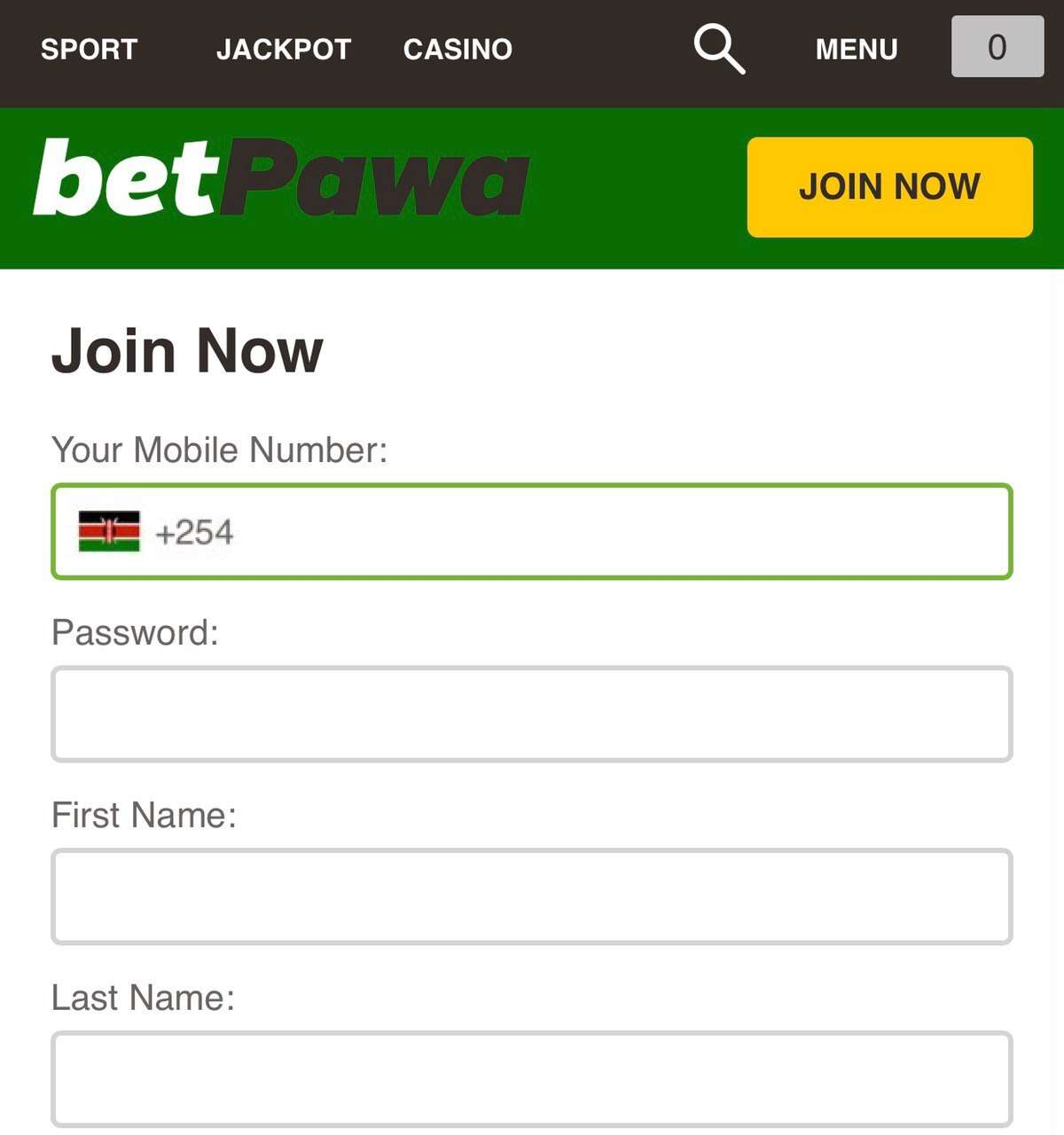 how to register betpawa account