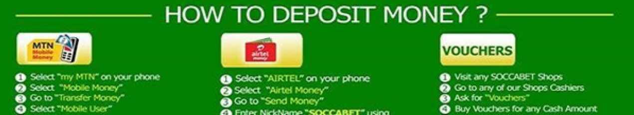 Deposits Soccabet